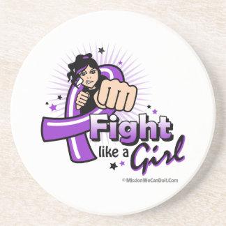 Puño del lupus - lucha como un chica posavasos diseño