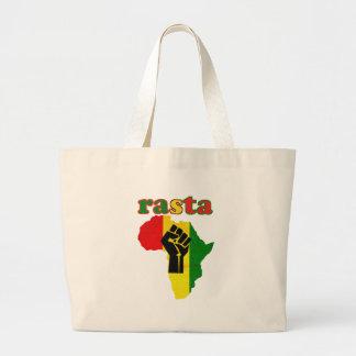 Puño del poder negro de Rasta sobre África Bolsas