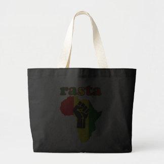 Puño del poder negro de Rasta sobre África Bolsa De Mano