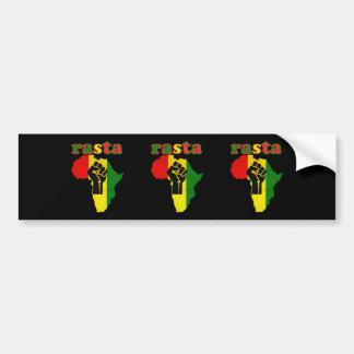 Puño del poder negro de Rasta sobre África Pegatina Para Auto
