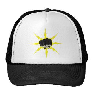 Puño del relámpago gorras de camionero
