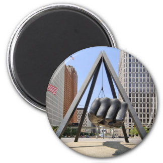 Puño negro Detroit Imanes