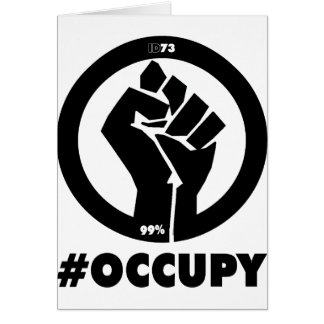 Puño #Occupy Tarjeta De Felicitación