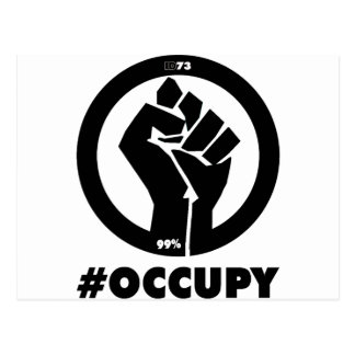 Puño #Occupy Tarjeta Postal