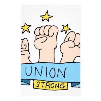 Puños fuertes de la unión papeleria personalizada