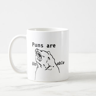 Puns are unBEARable Coffee Mug
