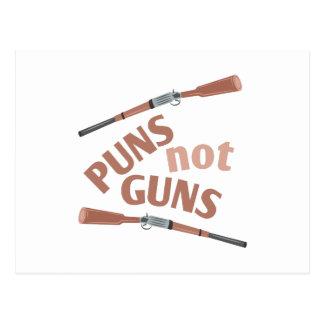 Puns Not Guns Postcard