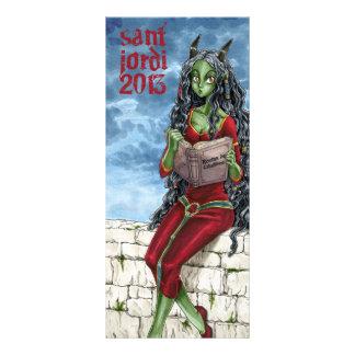 Punt of llibre Drac Sant Jordi 2013 Rack Card Template