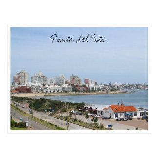 punta beach town uruguay postcard