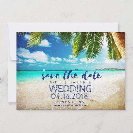 Punta Cana Beach Destination Wedding Save Dates The Date