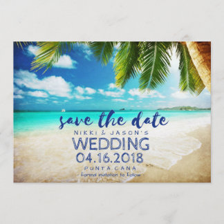 Punta Cana Beach Destination Wedding Save Dates Save The Date
