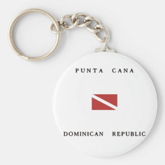 Punta Cana Dominican Republic Scuba Dive Flag Keychains