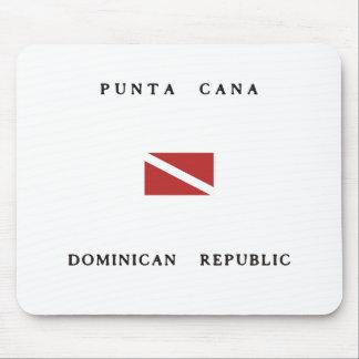 Punta Cana Dominican Republic Scuba Dive Flag Mouse Pad