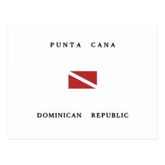 Punta Cana Dominican Republic Scuba Dive Flag Postcard