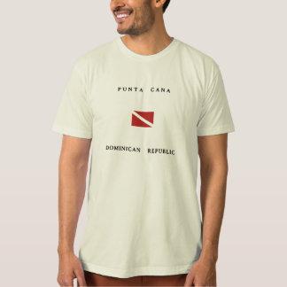 Punta Cana Dominican Republic Scuba Dive Flag Tshirt
