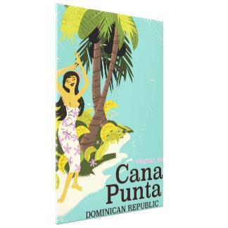 Punta Cana Dominican Republic Travel poster Canvas Print