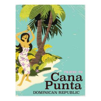 Punta Cana Dominican Republic Travel poster Postcard