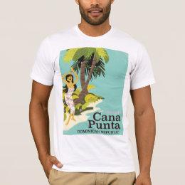 Punta Cana Dominican Republic Travel poster T-Shirt