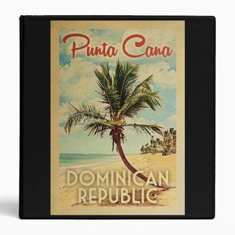 Punta Cana Dominican Republic Vintage Travel 3 Ring Binder