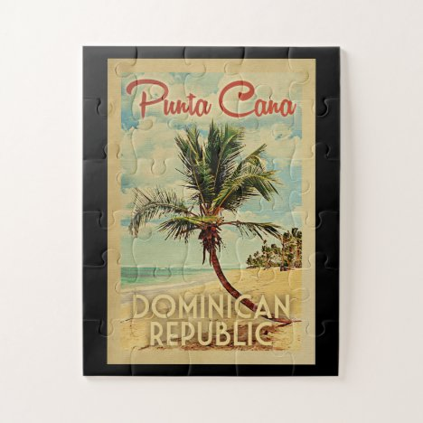 Punta Cana Dominican Republic Vintage Travel Jigsaw Puzzle