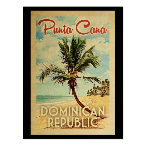 Punta Cana Dominican Republic Vintage Travel Postcard