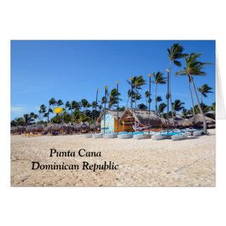 Punta Cana en la República Dominicana Tarjeta Pequeña