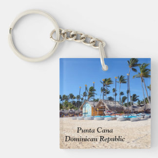 Punta Cana in the Dominican Republic Double-Sided Square Acrylic Keychain