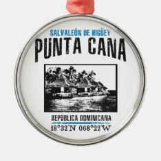 Punta Cana Metal Ornament at Zazzle