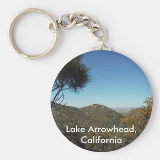 Punta de flecha del lago, cadena de la California- Llavero Redondo Tipo Pin