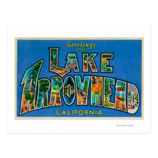 Punta de flecha del lago, California - escenas Postal