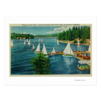 Punta de flecha del lago, el competir con del club postal