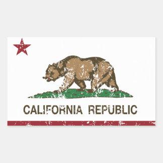 Punta de flecha del lago flag de la república de pegatina rectangular