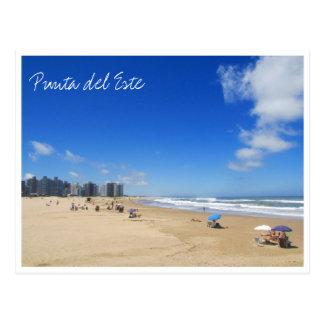 punta del este beach postcard