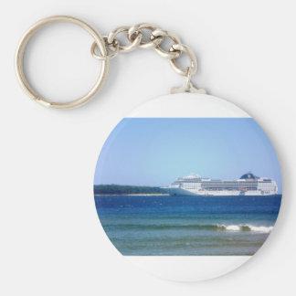 Punta Del Este Cruise Basic Round Button Keychain