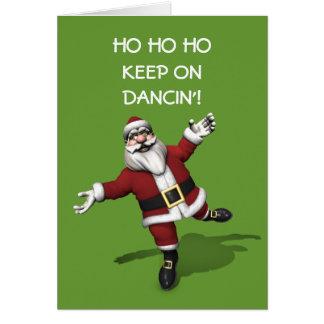 Punta del pie que baila a Papá Noel Felicitación