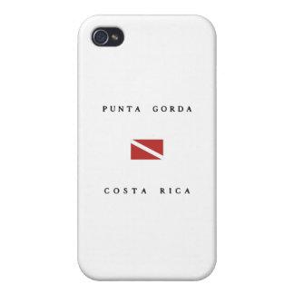 Punta Gorda Costa Rica Scuba Dive flag iPhone 4 Cover
