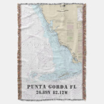 Punta Gorda FL Hometown Latitude Longitude Throw