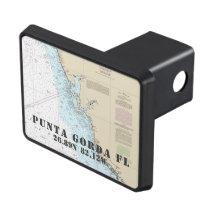 Punta Gorda FL Latitude Longitude Nautical Tow Hitch Cover