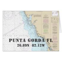 Punta Gorda FL Nautical Navigation Chart Boater's Card