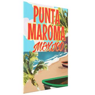 Punta Maroma Beach Mexico travel poster Canvas Print