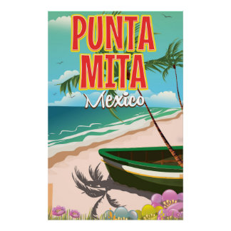 Punta Mita Mexican travel poster