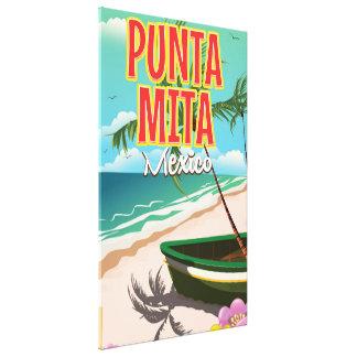 Punta Mita Mexican travel poster Canvas Print
