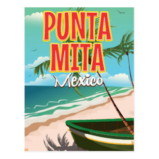 Punta Mita Mexican travel poster Postcard