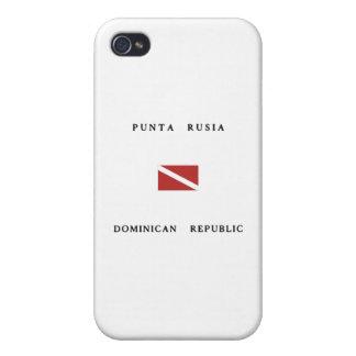 Punta Rusia Dominican Republic Scuba Dive Flag iPhone 4/4S Cases