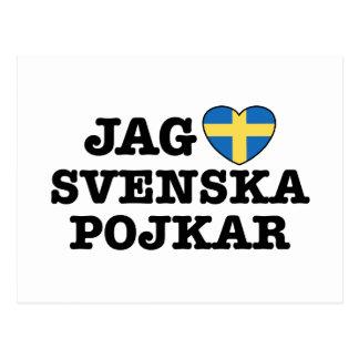 Punta Svenska Pojkar Tarjeta Postal