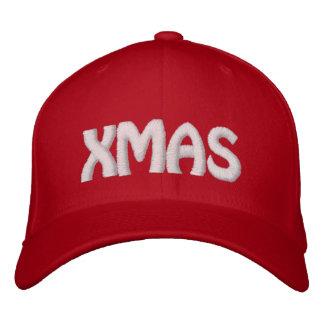 Puntada blanca ROJA de Navidad Gorras Bordadas