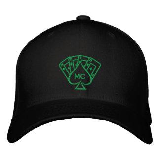 Puntada bordada del verde del gorra gorra de béisbol