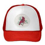 Puntada cruzada cardinal gorros bordados
