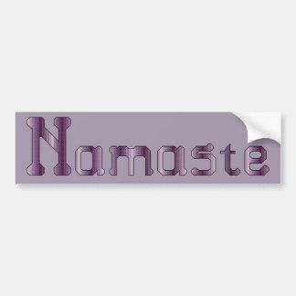 Puntada cruzada de Namaste Etiqueta De Parachoque
