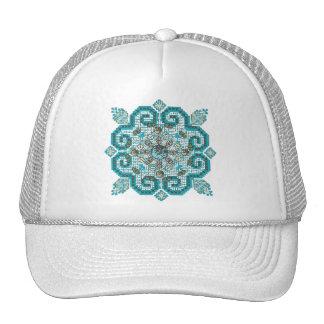 puntada cruzada gorra